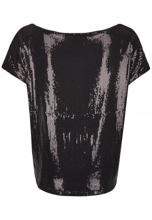 Modisches T-Shirt, black