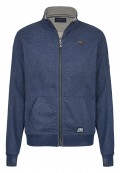 Troyer Sweatjacke Hoodie mit Fleece-Touch