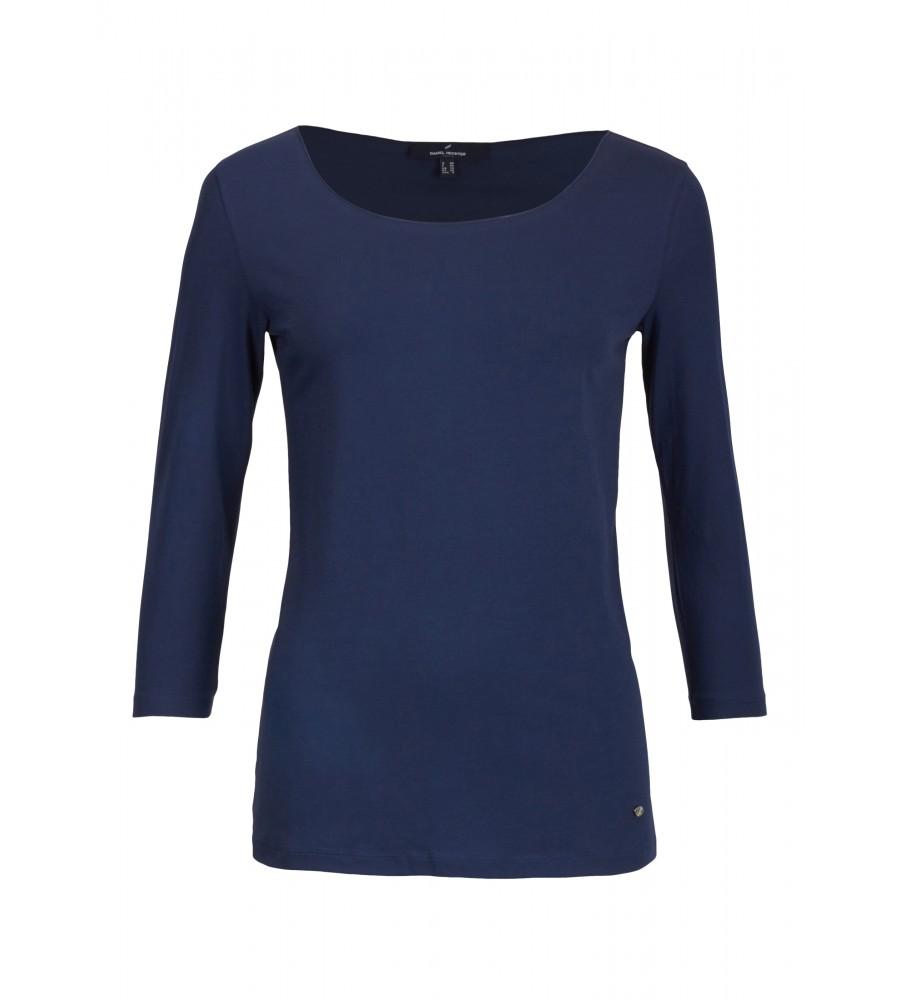 Artikel klicken und genauer betrachten! - Ein praktisches Basicshirt für jede Garderobe. Die 3/4-Armlänge macht das Shirt zu einem guten Begleiter im Sommer wie im Winter. Durch den Elasthananteil sitzt es sehr angenehm auf der Haut. | im Online Shop kaufen