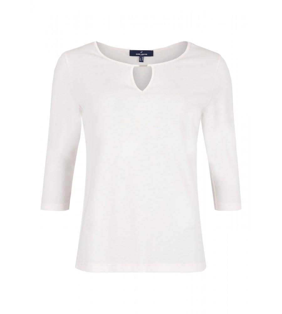 Shirt mit raffiniertem Ausschnitt - Dieses moderne Shirt von Daniel Hechter ist der ideale Kombinations-Partner für Business- und Freizeit-Looks. Es begeistert mit seinem raffinierten Ausschnitt: in den Rundhalsausschnitt wurde ein Zierelement eingesetzt. Das weitere Design ist schlicht gehalten. Das Shirt besteht aus Lyocell mit Baumwoll-Anteil, wodurch es ein sehr angenehmes Tragegefühl aufweist.