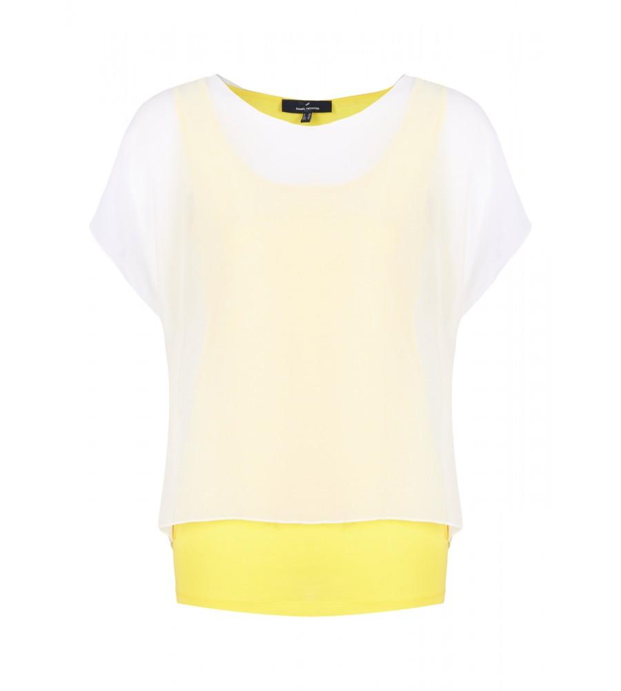 Shirt in Lagen-Optik - Dieses leichte Shirt ist der perfekte Begleiter für warme Tage. Es kommt in trendiger Lagen-Optik und begeistert zudem mit seinem angenehmen Material aus Lyocell-Baumwoll-Mix. Das �berzieh-Shirt lässt sich aufgrund seines schlichten Designs vielseitig kombinieren und passt perfekt zu Jeans-Looks.