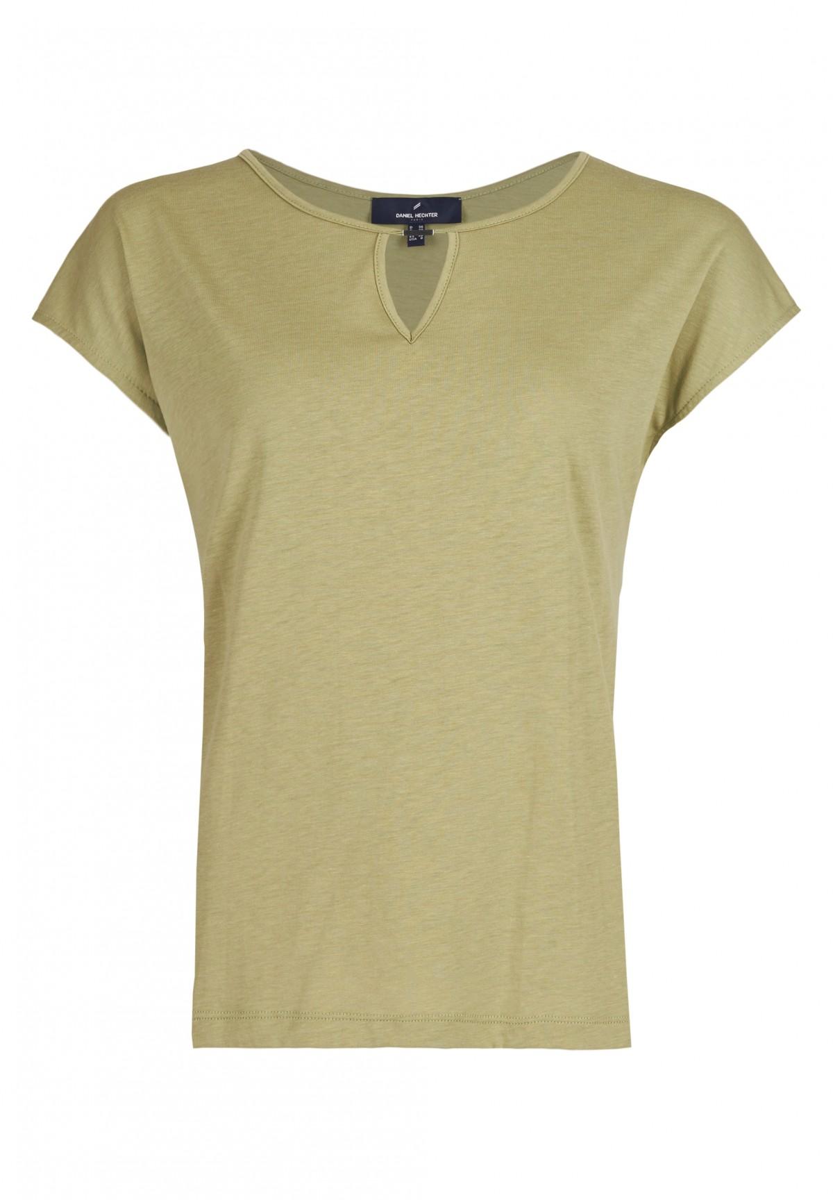 Shirt mit verziertem Ausschnitt / Shirt