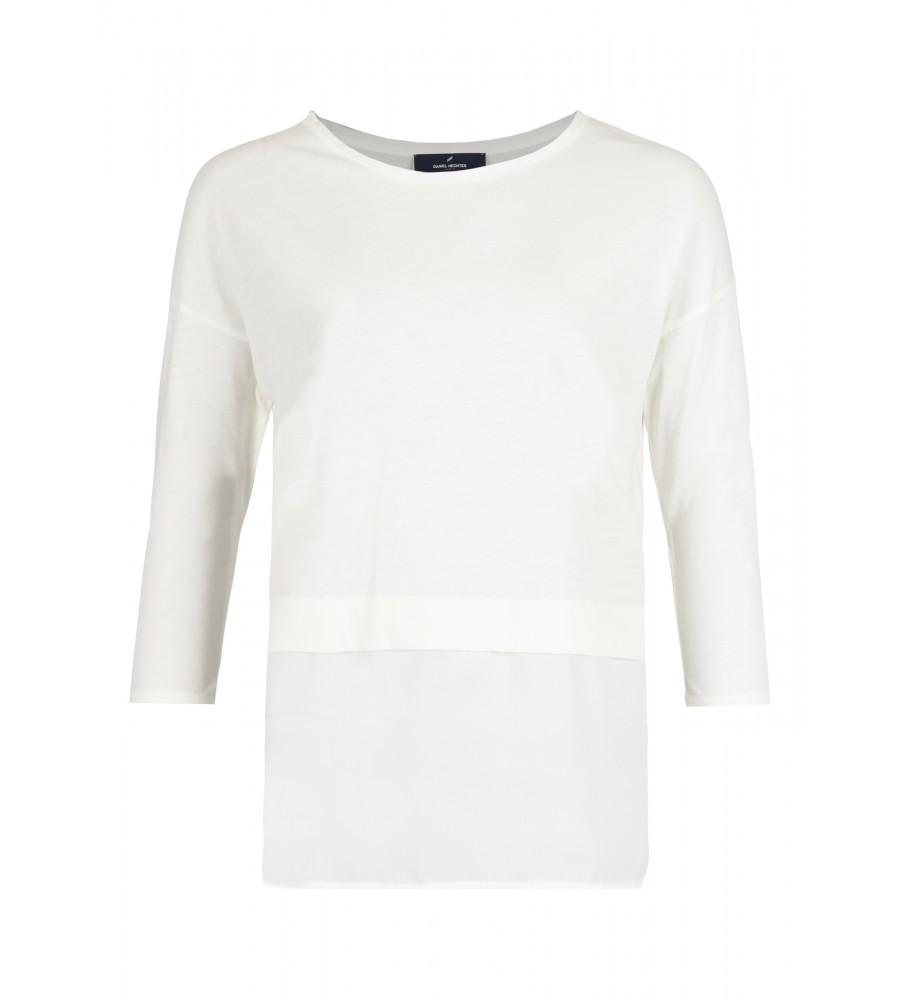 Shirt in Lagen-Optik - Dieses moderne Shirt von Daniel Hechter ist der ideale Kombinations-Partner für Business- und Freizeit-Looks. Es besticht mit dem modernen Lagen-Look und dem versetzten �rmelansatz. Das Shirt besteht aus einem hochwertigen Baumwoll-Lyocell-Mix, der höchsten Tragekomfort auch an hei�en Tagen garantiert.