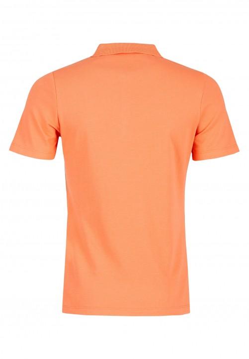 Poloshirt, dunkelorange melange