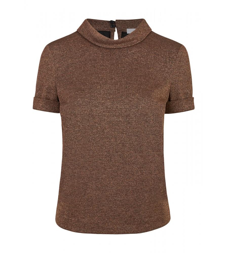 Shirt mit Glitzer-Stoff - Mit diesem Shirt von Daniel Hechter machen Sie schlichte Büro-Outfits zu modischen Highlights. Es besticht durch den leicht glitzernden Stoff, den kleinen Stehkragen und die kurze Armlänge. Durch den Stretch-Anteil bietet es höchsten Tragekomfort, Langlebigkeit und Formstabilität.