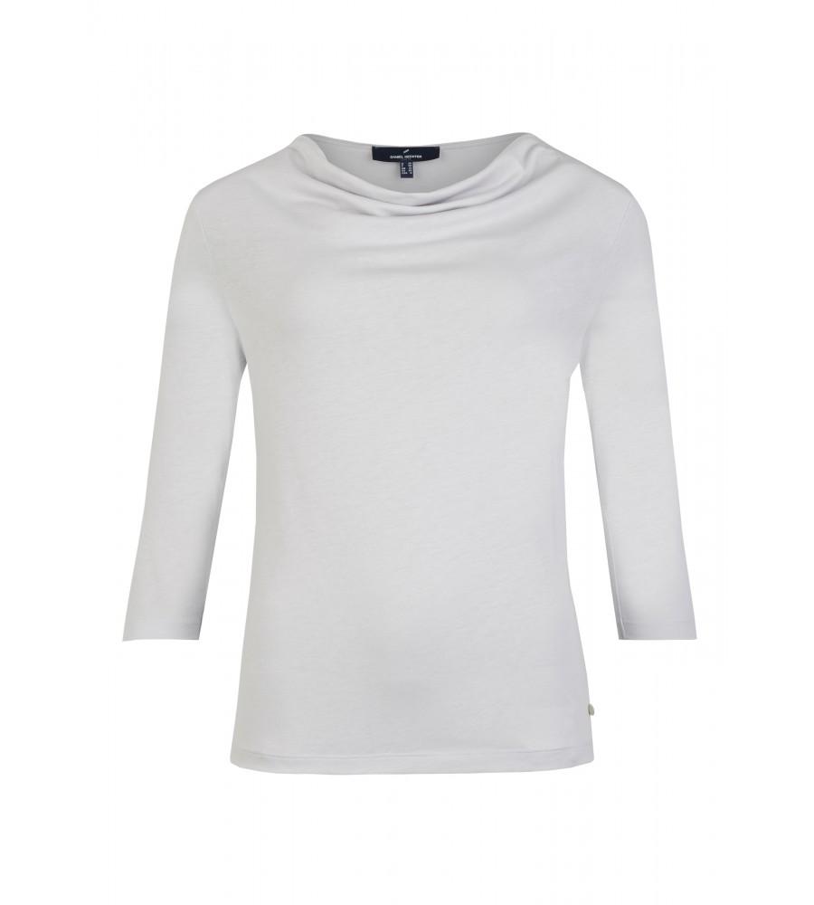 Langarmshirt mit raffiniertem Ausschnitt - Das trendige Langarmshirt von Daniel Hechter ist der perfekte Partner für Büro- und Freizeit-Looks. Es kommt mit einem raffinierten Ausschnitt: der feminine Rundhalsausschnitt wird durch leichte Raffungen verziert. Der Lyocell-Baumwoll-Mix bietet höchsten Tragekomfort.
