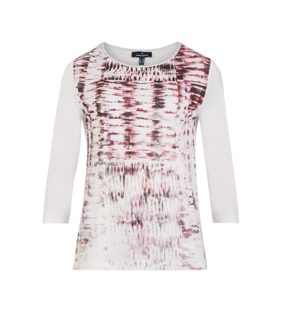 Bedrucktes Shirt - Das bedruckte Shirt von Daniel Hechter kommt in topmodischem Schnitt: die �rmel sind modisch verkürzt, es verfügt über einen femininen Rundhalsausschnitt. �rmel und Rücken sind nicht bedruckt. Der Material-Mix aus Baumwolle und Modal bietet höchsten Tragekomfort.