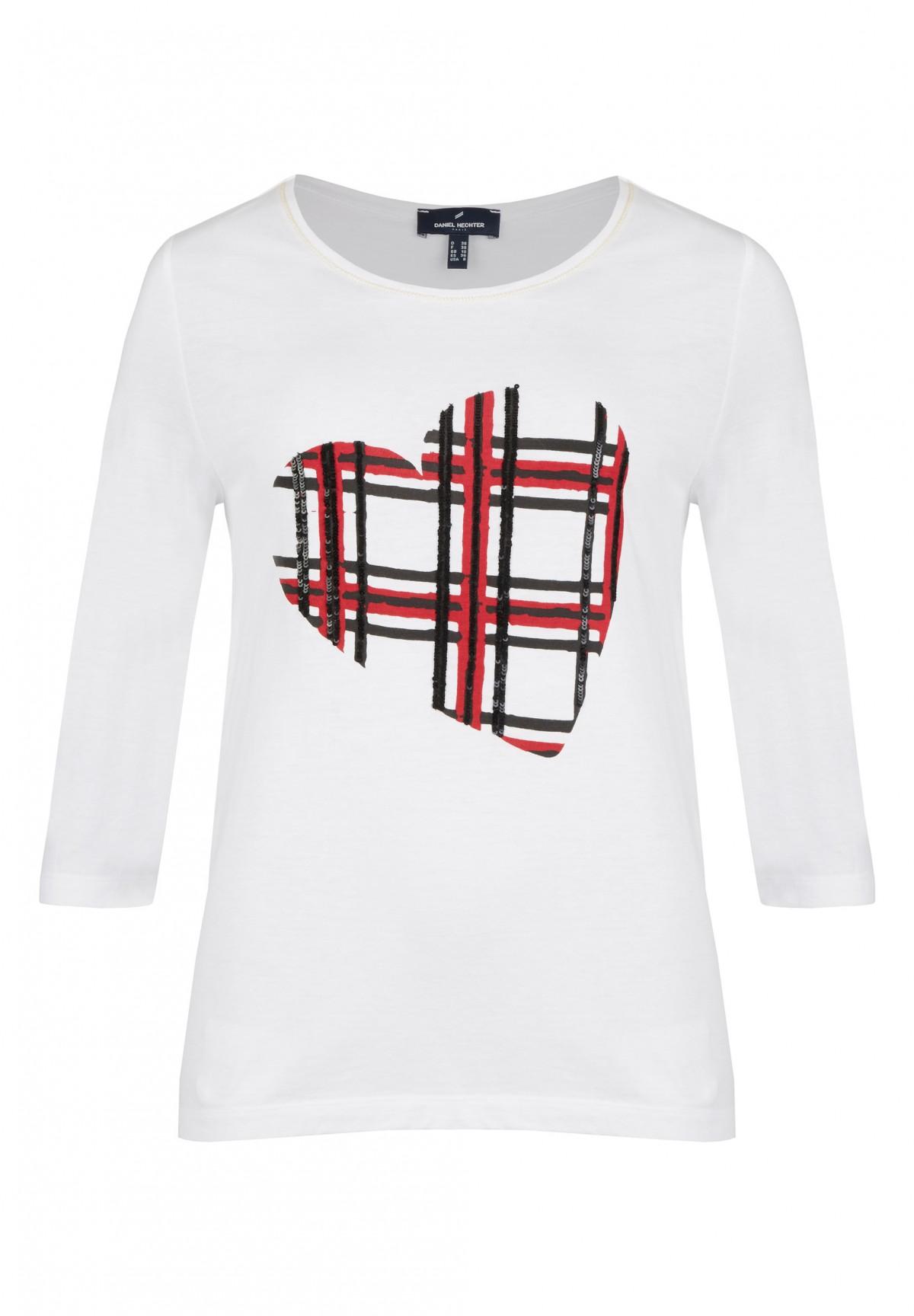 T-Shirt imprimé cœur sur le devant /