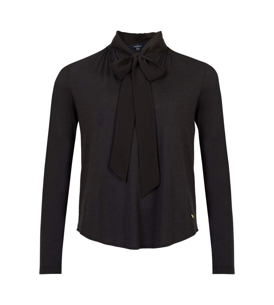 Shirt mit auffälligem Design - Dieses Shirt von Daniel Hechter ist der perfekte Partner für modische Business-Outfits. Das auffällige Design mit der Schluppe vorn macht es zum Style-Highlight. Durch den Lyocell-Baumwoll-Mix ist das Shirt sehr angenehm zu tragen.
