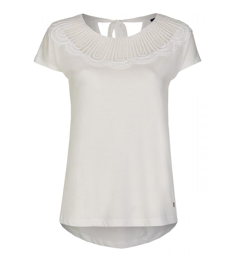 Modernes Shirt mit Spitze - Das modische Shirt von Daniel Hechter ist ein Must-Have für die kommende Saison. Es präsentiert sich mit einem femininen Rundhalsausschnitt, der mit Spitze verziert ist, einem raffinierten Rückenteil und darüber hinaus einem minimalistischen Design. Der Baumwoll-Lyocell-Mix verspricht eine perfekte Passform, Formstabilität und einen tollen Tragekomfort.