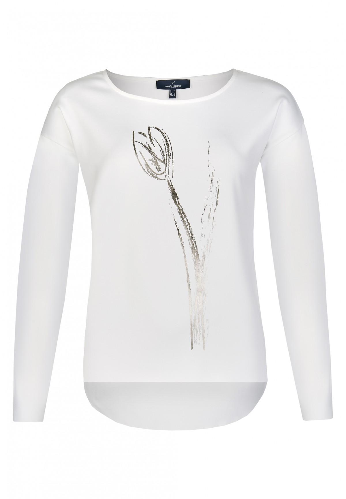 T-shirt classique au motif floral /
