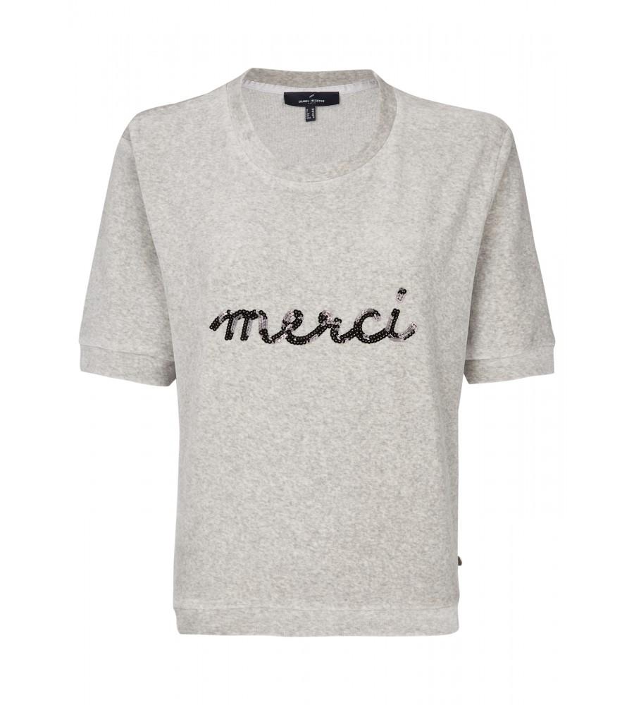 Casual T-Shirt - Das casual T-Shirt ist ein idealer Begleiter für Freizeit-Outfits. Es begeistert mit seinem lässigen Schnitt und dem Pailletten-Aufdruck. Das Shirt besteht aus einem hochwertigen Materialmix aus Baumwolle und Kunstfaser, der hohen Tragekomfort verspricht.