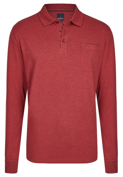 POLO LONGSLEEVE, dark red
