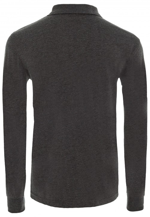 POLO LONGSLEEVE, anthracite