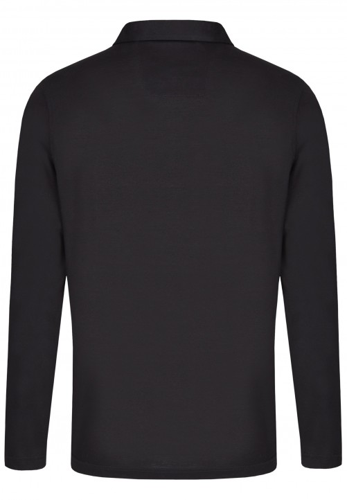 POLO LONGSLEEVE, black