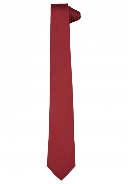 Klassische Krawatte im einfarbigen Design, red
