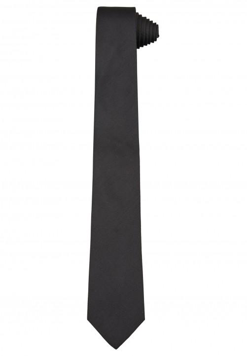 Klassische Krawatte im einfarbigen Design, black