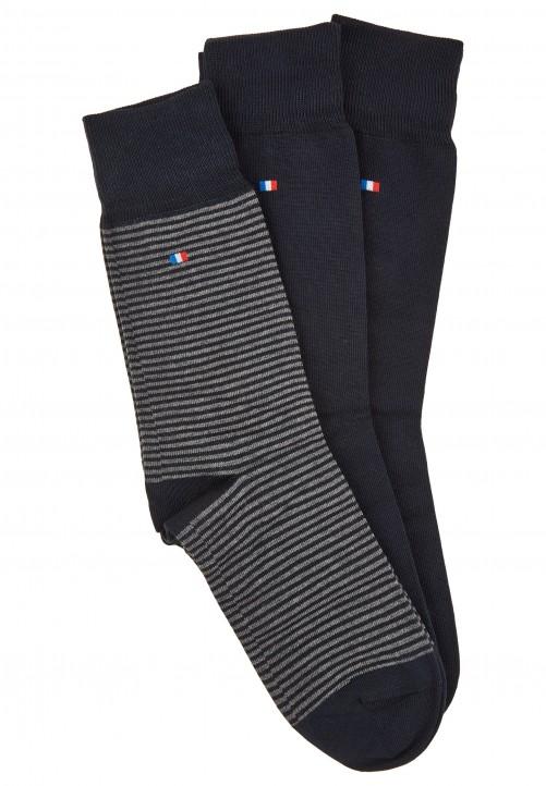 3er Pack Socken in Geschenkbox, midnight blue