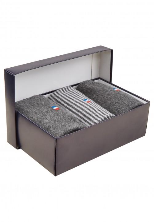 3er Pack Socken in Geschenkbox, charcoal