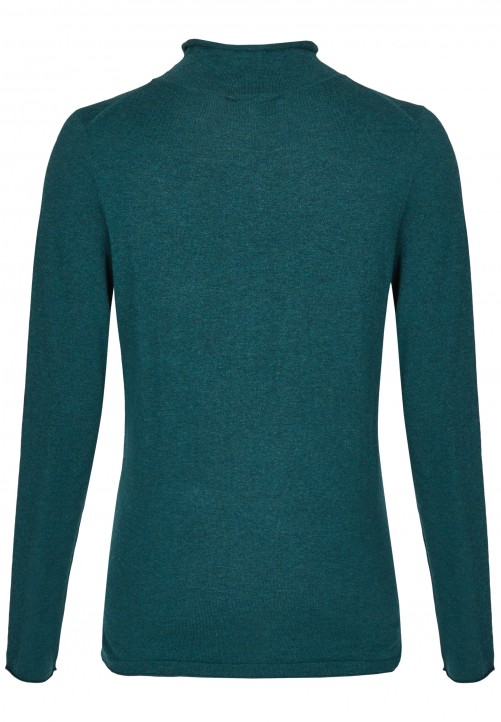 Basic Rollkragenpullover, dark green