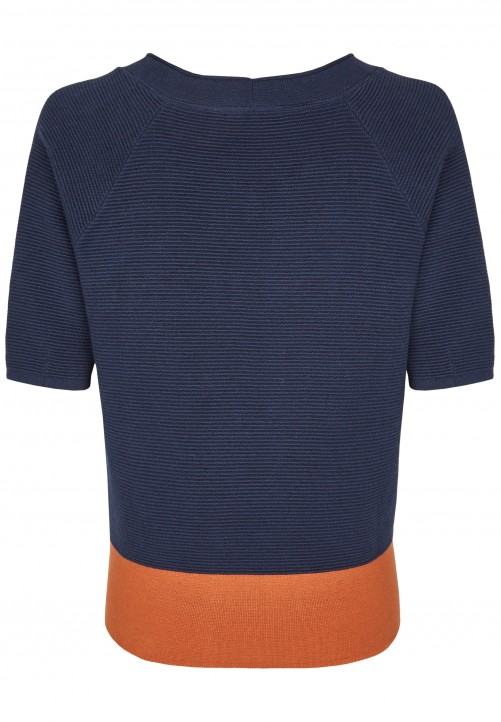 Structured Jumper, midnight blue