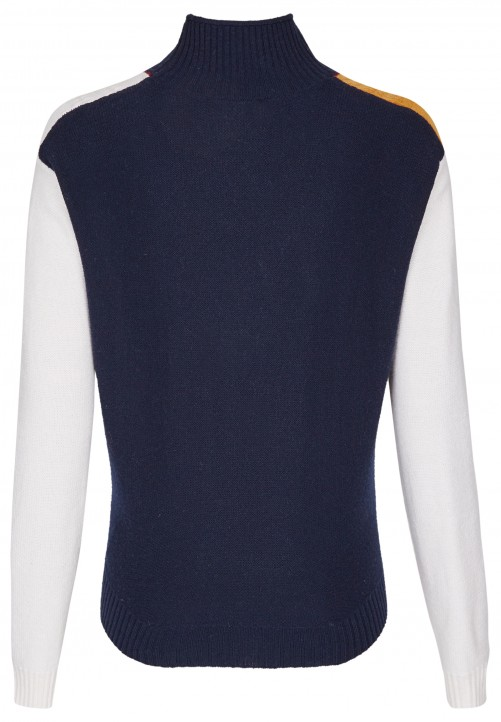 Klassischer Basic Pullover, midnight blue
