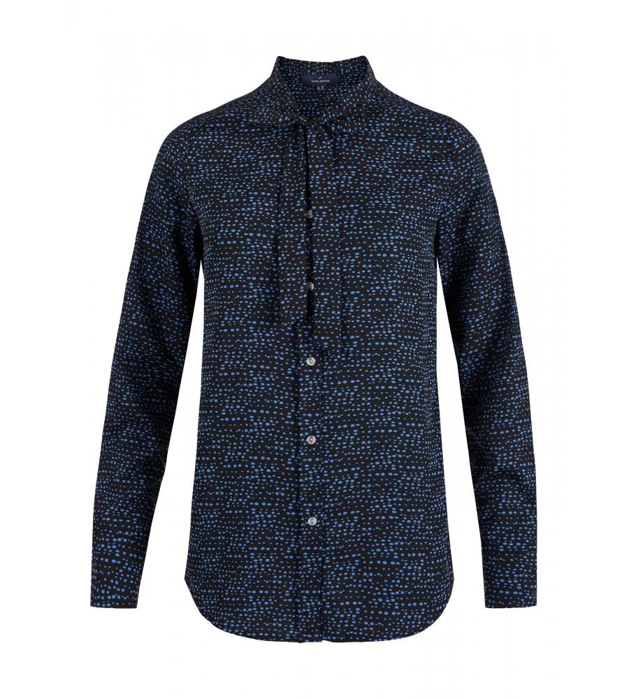 Gepunktete Schluppen-Bluse