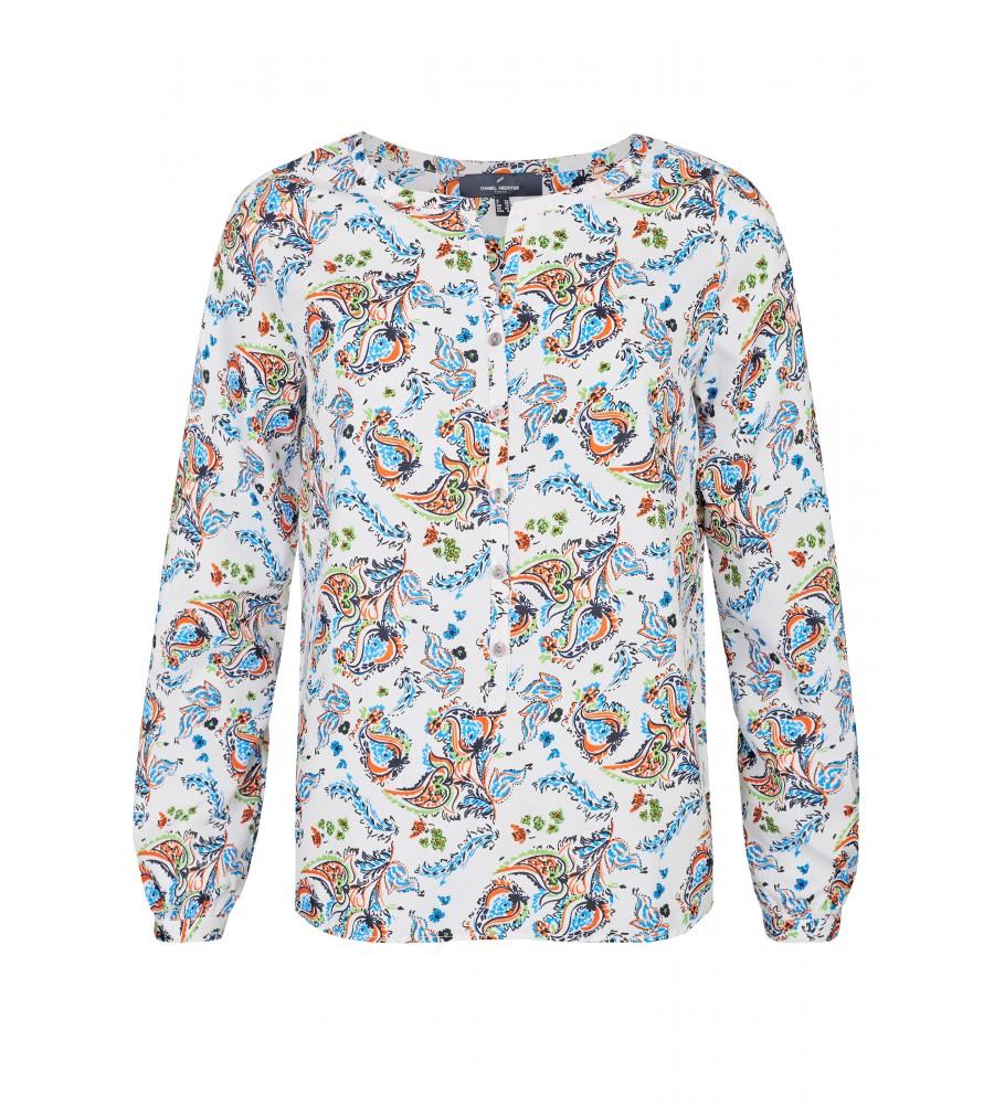Bluse mit grafischem Muster - Diese hübsche Bluse von Daniel Hechter ist der perfekte Begleiter für Business- und Freizeitanlässe. Sie begeistert mit dem grafischen Muster in verschiedenen Tönen, das jeden Look modisch aufwertet. Die Bluse besteht aus hochwertiger Kunstfaser, die über hervorragende Trageeigenschaften verfügt.
