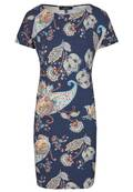 Modisches Kleid mit All-over Paisley-Muster