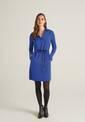 Dress, satin blue