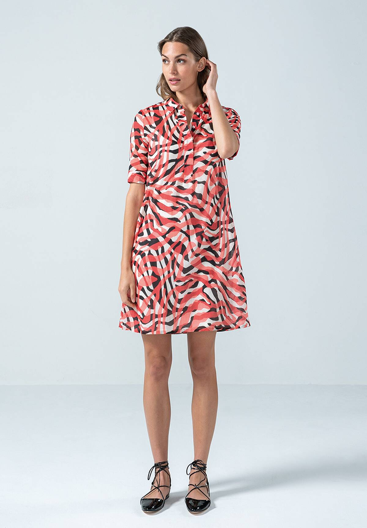 Sommerliches Blusenkleid mit Animalprint / Blouse Dress