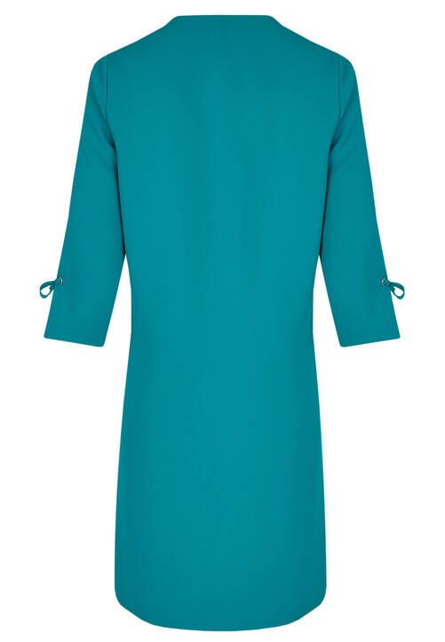 V-Neck Dress, Aquamarine