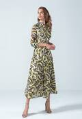 Modernes Blusenkleid mit Animalprint