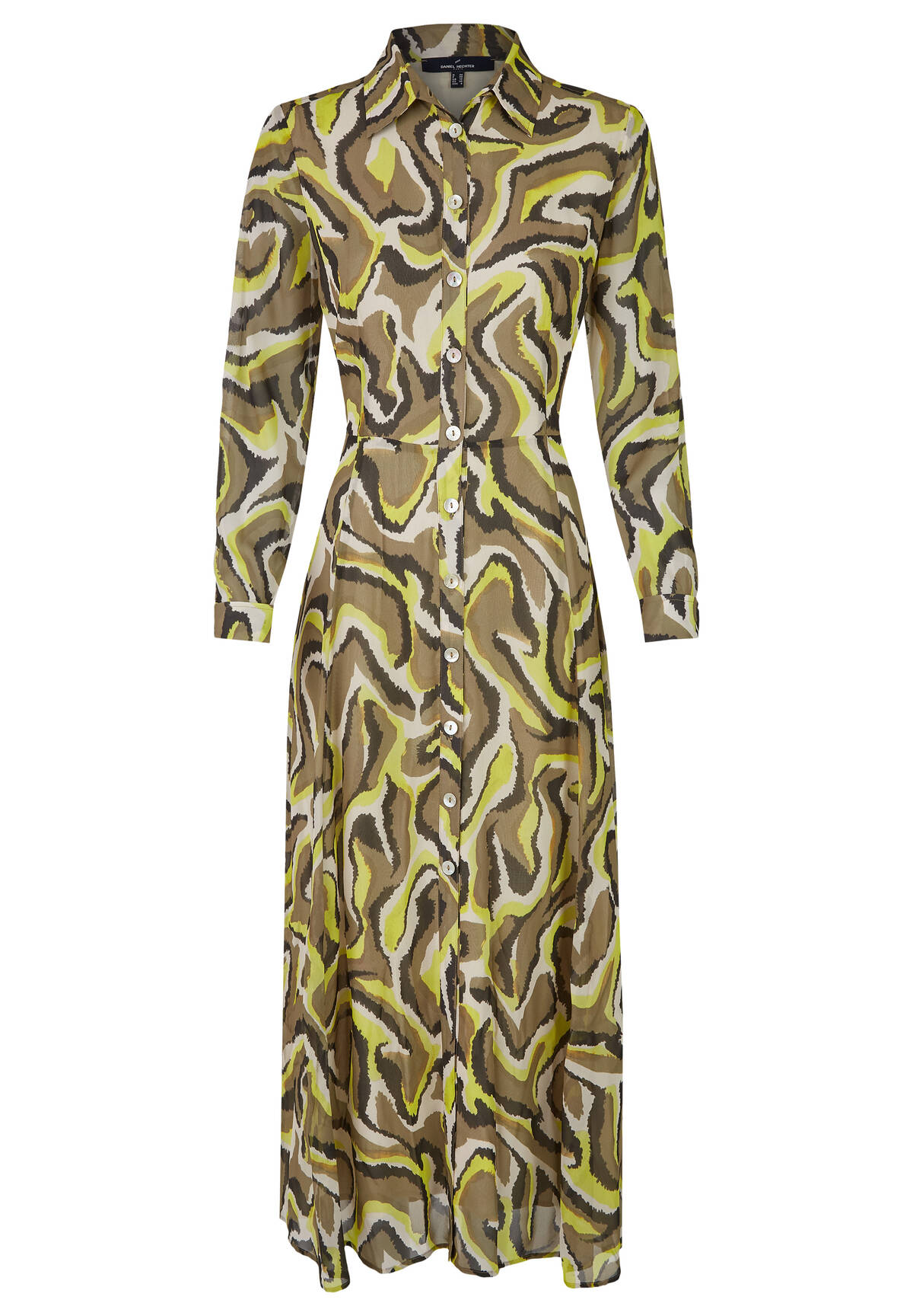 Modernes Blusenkleid mit Animalprint / Blouse Dress