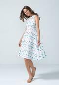 Weitenverstellbares Kleid im grafischen Design