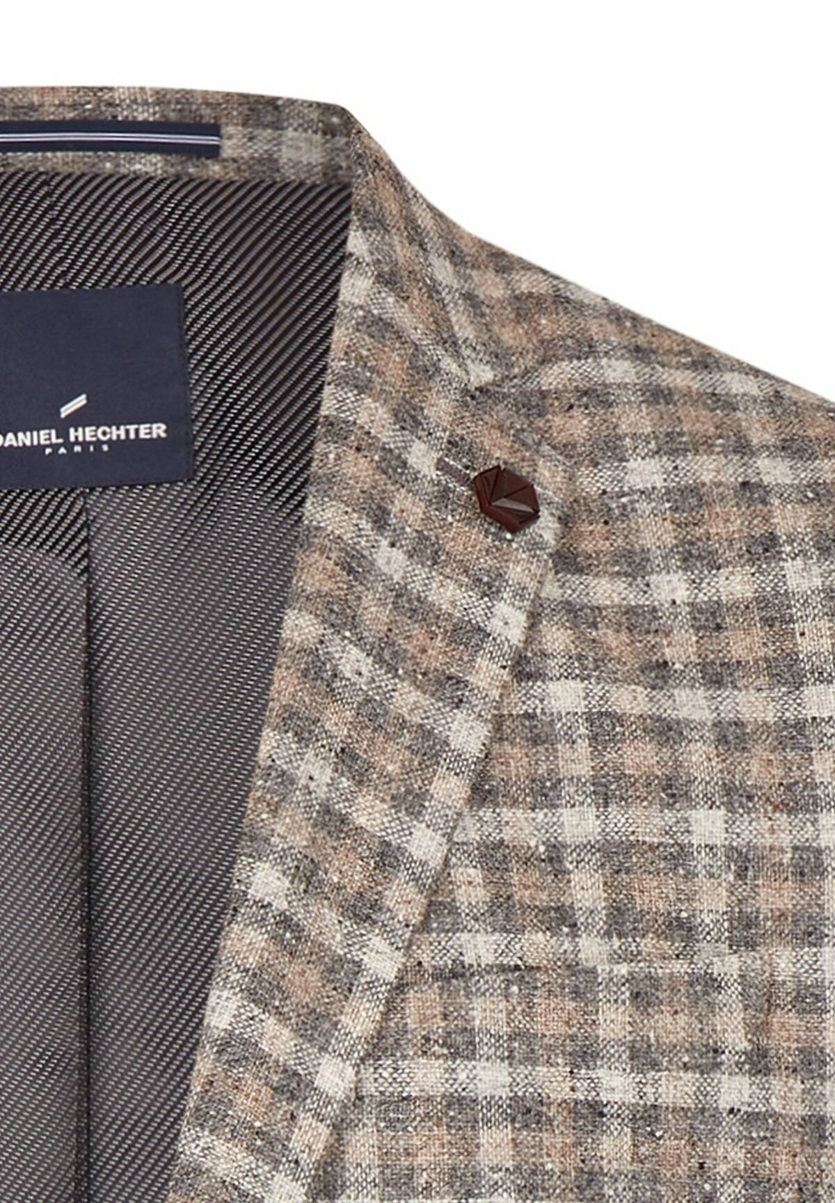 Veste à carreaux en tweed /