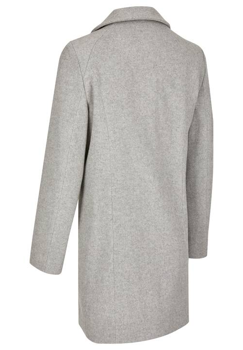 Coat, grey melange