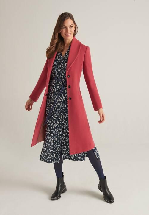 Coat, mauve