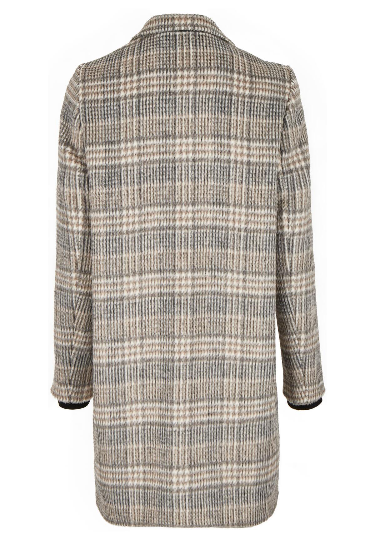 Moderner Karo-Mantel / Coat