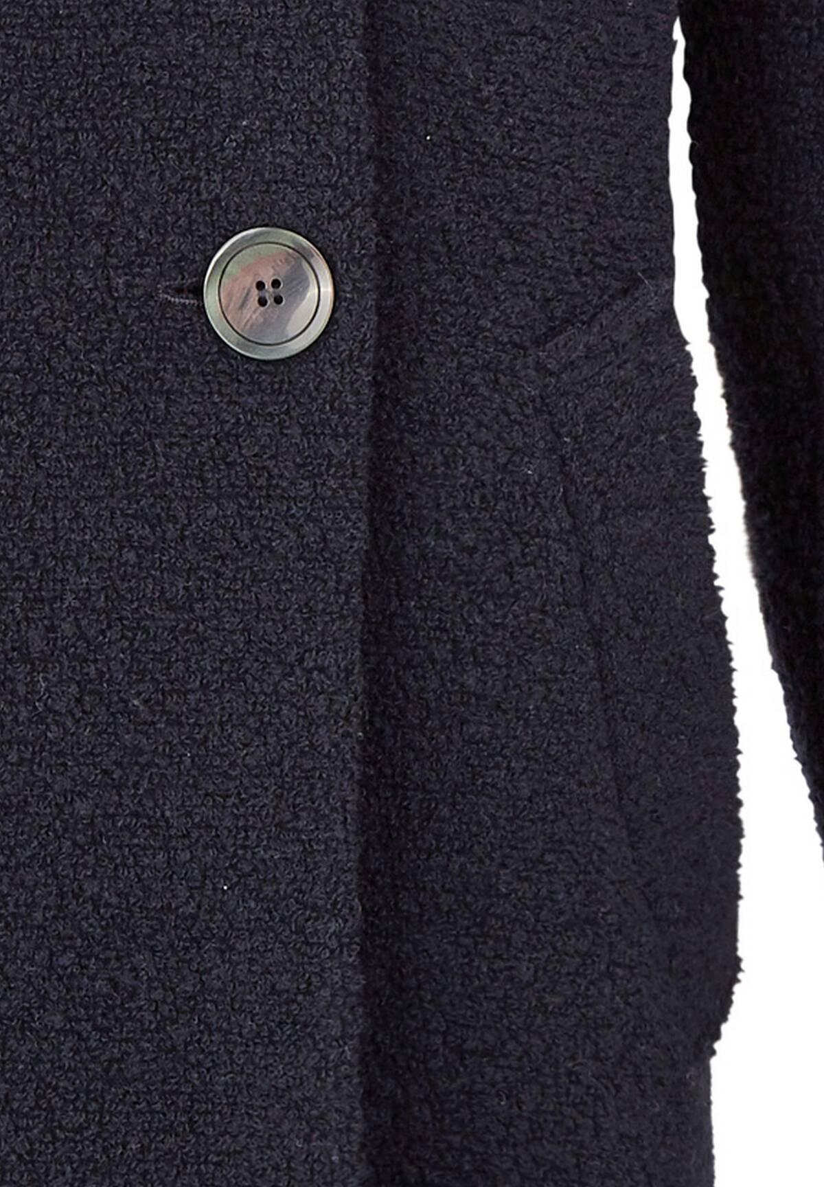 Manteau doublé en maille bouclette /