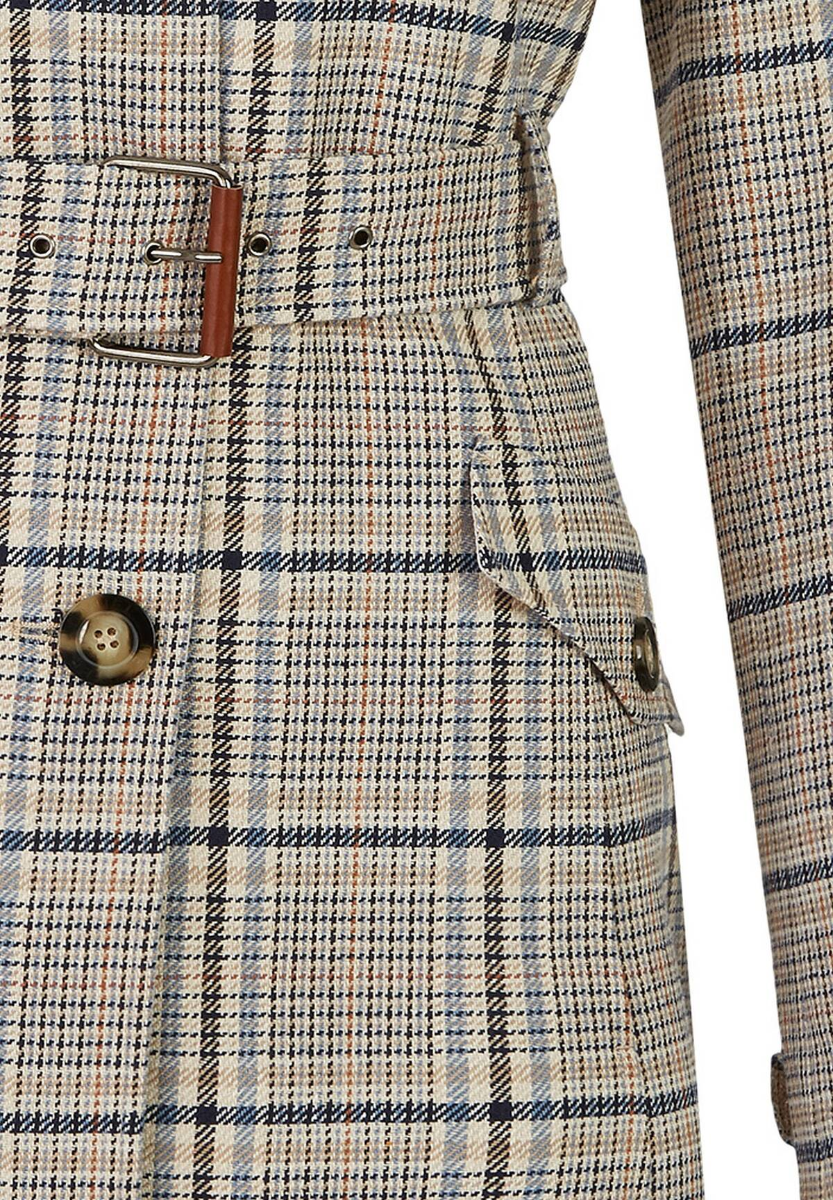 Trench à motifs tartans /