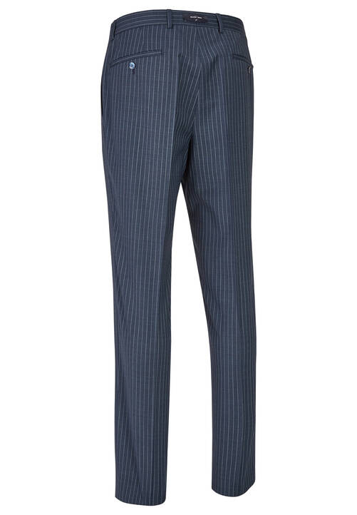 TROUSERS MODERN, steel blue