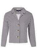 Manteau col chemise à carreaux