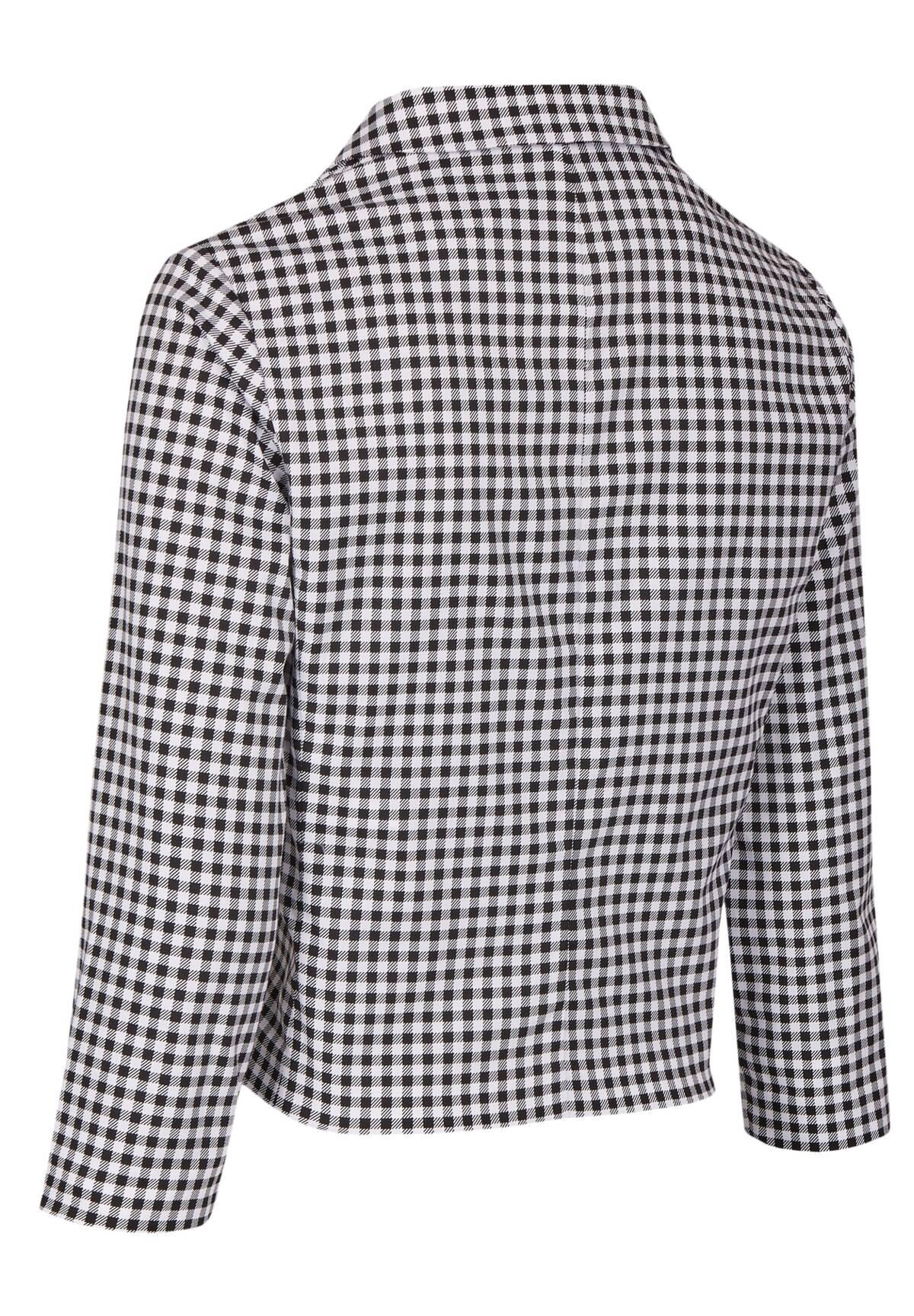 Manteau col chemise à carreaux /