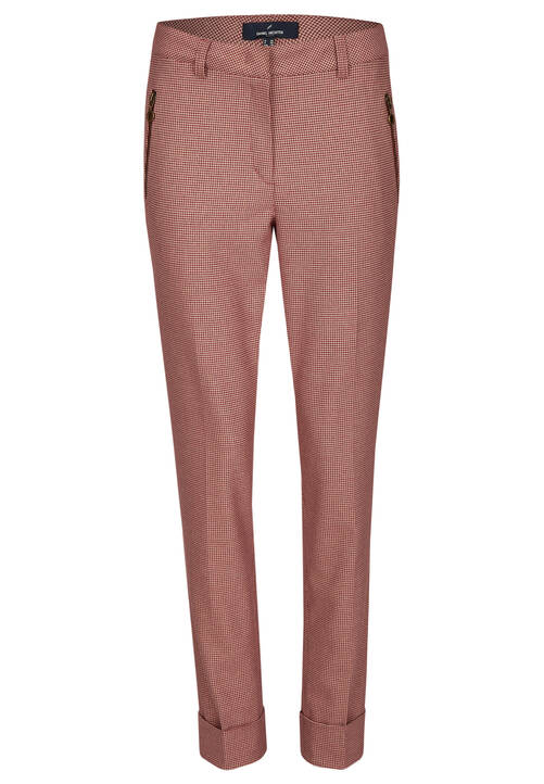 Trousers, beet red