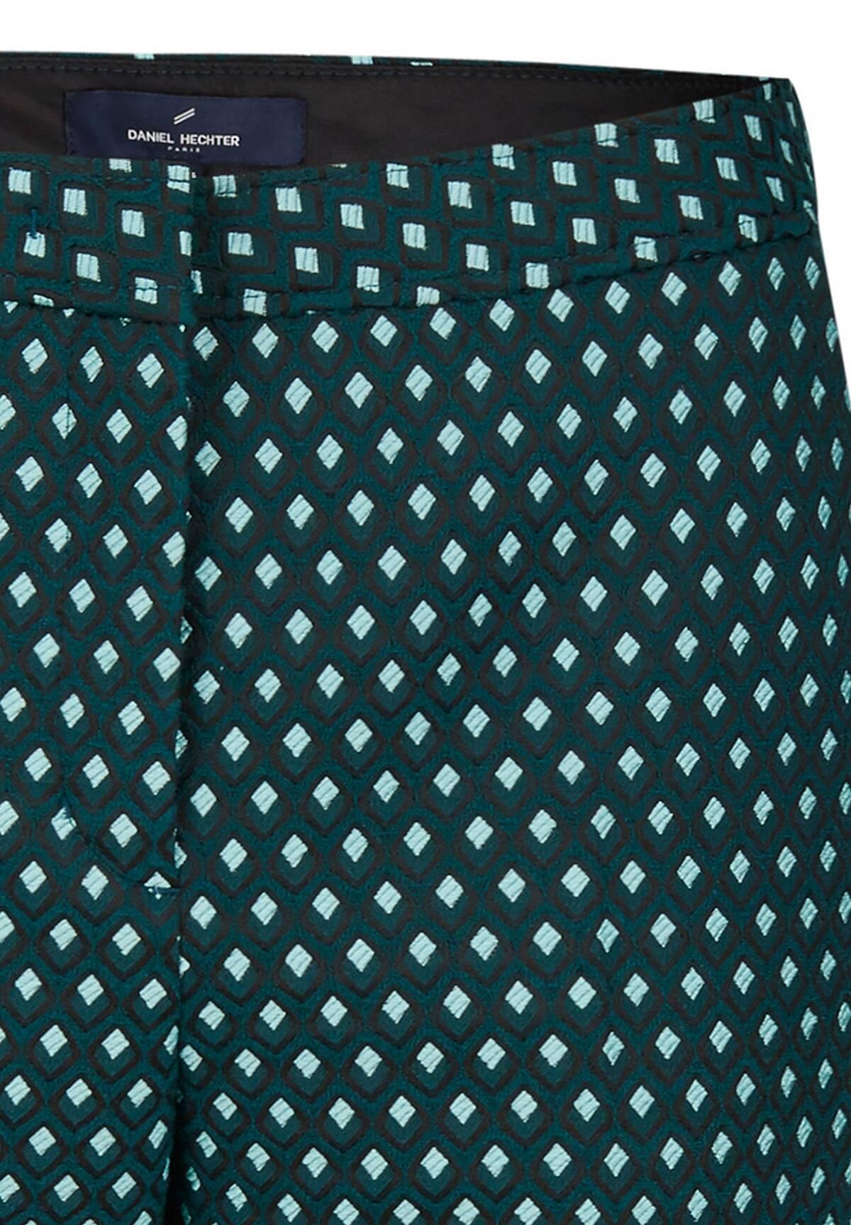 Modische Hose mit seitlichen Kontrasten / Jacquard Pants