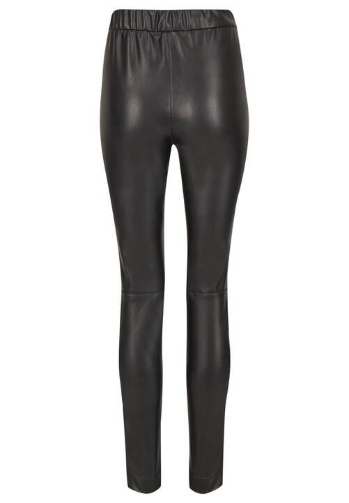 Fake Leather Pants, black