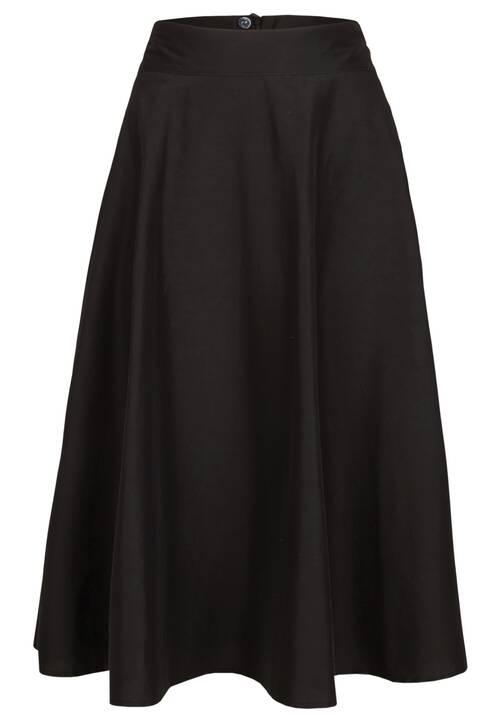 Feminine Midi Skirt, black