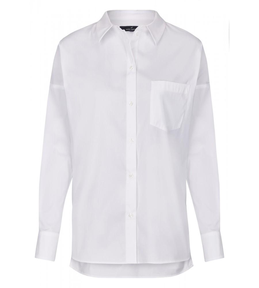Modische Bluse - Diese modische Bluse ist ein essentieller Bestandteil Ihrer Business-Garderobe. Sie ist gerade geschnitten, mit einem Kent-Kragen ausgestattet und verfügt über eine Brusttasche und eine durchgehende Knopfleiste. Der Material-Mix aus Baumwolle mit Polyamid und Stretch-Anteil verleiht ihr einen hohen Tragekomfort, Langlebigkeit und Formstabilität. Modell: DAH-62170-791005