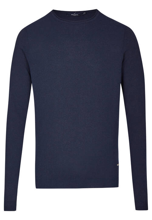 CREWNECK STRUCTURE, midnight blue